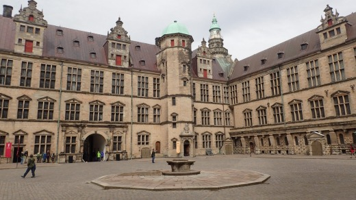 Kronborg castle courtyard.