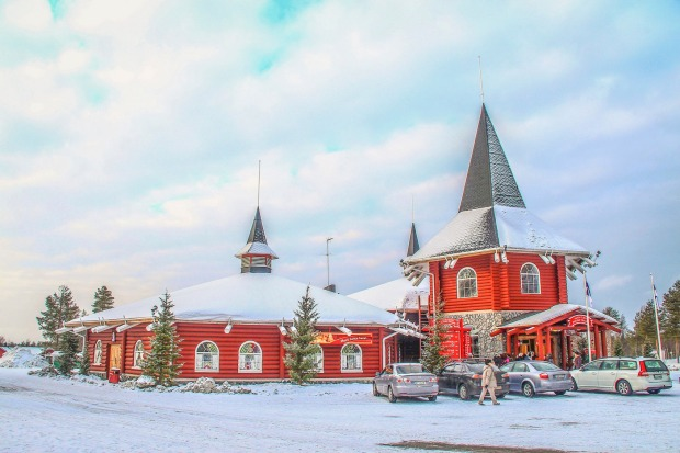 Santa Clause's office at the Arctic Circle in a Rovaniemi, Finland.