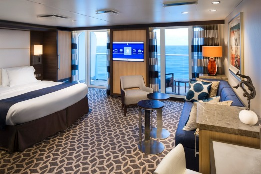Junior suite with balcony on Ovation of the Seas