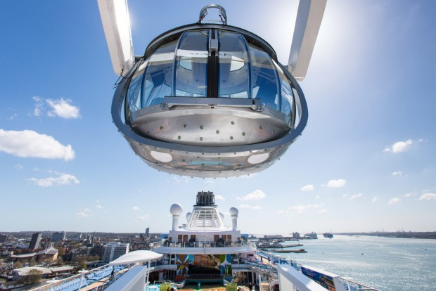 Ovation of the Seas: The North Star observation pod.