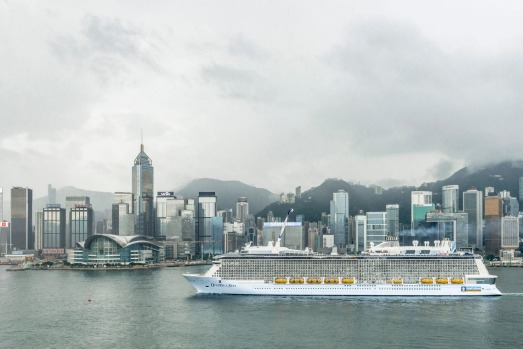 Ovation of the Seas in Hong Kong.
