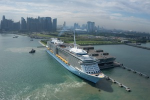 Ovation of the Seas in Singapore 2016.