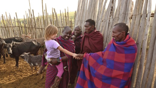 Meeting the Maasai.