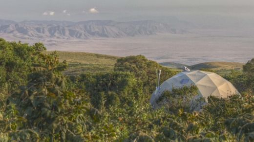 Views over the Ngorongoro Crater from Asilia Highlands.