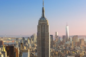 Up there: The Empire State Building viewed from the Rockefeller Centre.