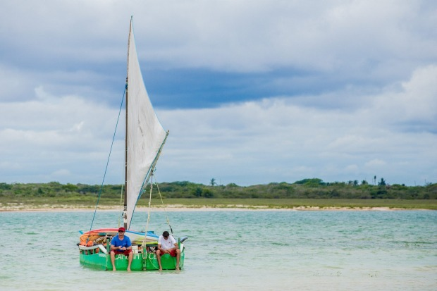 Sailing on Lagoa do Paraiso, Jericoacoara.