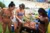 An Australia Day BBQ at Bondi Beach.