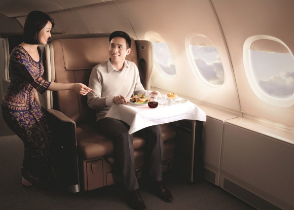 Singapore Airlines A380 business class.