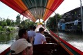 Tailboat in the Thonburi area on the west side of the Chao Phraya River.