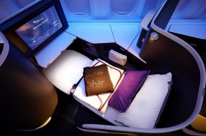 The new business class seats on Virgin Australia's 777-300ER comes with its own instruction booklet to explain the ...