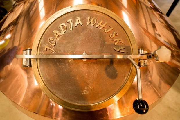 Detail of the copper still at Joadja Distillery, near Berrima in the Southern Highlands.  Photo: supplied