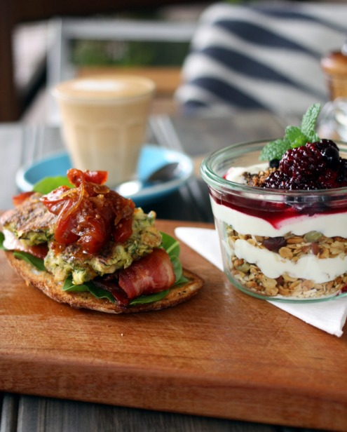 Breakfast dishes at the Exeter General Store in the Southern Highlands.
