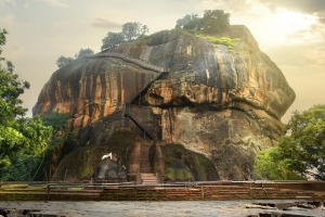 Mountain of Sigiriya in Sri Lanka.