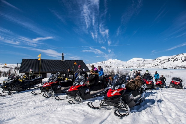 Snowmobiling is a popular activity in the region.