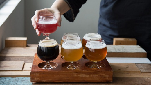 A tasting paddle of six Pasteur Street Brewing Company ales costs VND 250,000 ($A15)