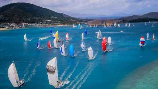 The start of last year's cruising division in Dent Passage during Hamilton Island Race Week.
