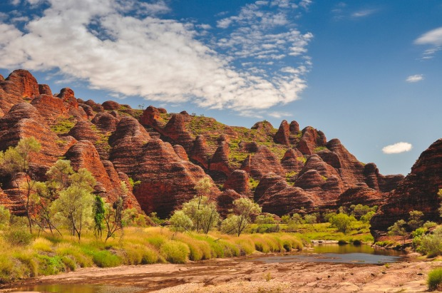 Bee Hive formations at the Bungle Bungles in Western Australia.
