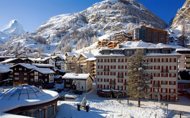 HOTEL MONTE ROSA, ZERMATT: In 1865, in the dining room, English alpinist Edward Whymper planned the first successful ...