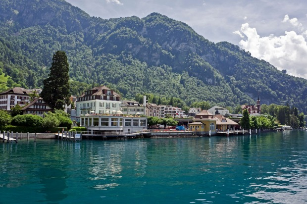 HOTEL TERRASSE AM SEE, VITZNAU: Opened in 1871 as the hotel for the Rigi Railway company, this small, simple and ...