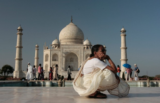 Taj Mahal in Agra, India was named among the top 5 landmarks in the world for tourists.