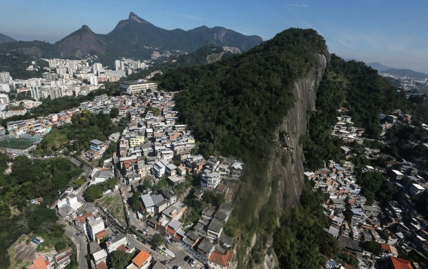 Hillside favela in Rio de Janeiro. Around 1.4 million residents, or approximately 22 percent of Rio's population, reside ...