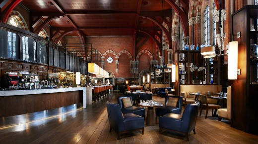 The Booking Office, one of the dining and drinking venues at the St Pancras Renaissance hotel, is often crowded.  Photo: ...