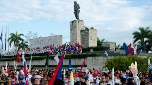 May Day celebrations at the Che Guevara Memorial in Santa Clara.