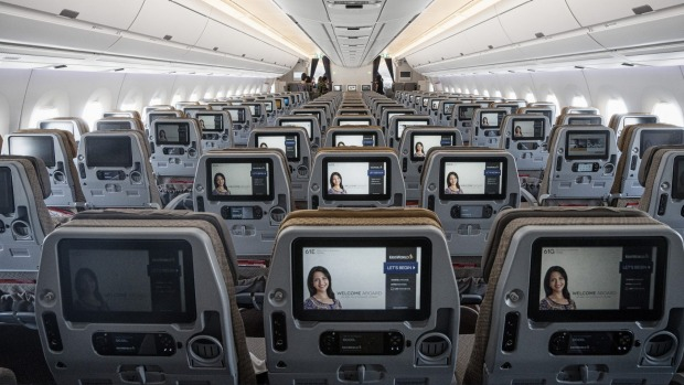 A Singapore Airlines Airbus A350. Singapore said cameras are on the entertainment systems of 84 Airbus A350s.