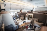Photos: On board the Singapore Airlines A350. The business class cabin of Singapore Airlines' Airbus A350.