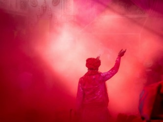 Vrindavaan holi at Mathura ,India Holi – the festival of colours that brings in unfettered joy, fun and play, music and ...