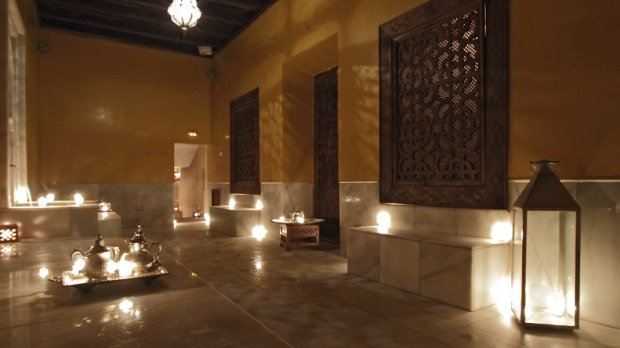 Aire Banos Arabes bathhouse, Seville, Spain.