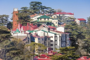 Shimla, the capital city of the Indian state of Himachal Pradesh, located in northern India.