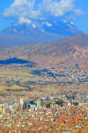 At high-altitude La Paz, the air is so thin some people get out of breath just walking.