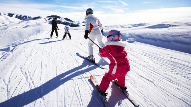 Skiing with the family gives children the priceless gift of being able to handle themselves on mountains.