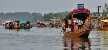 Loved our shikara (gondola-like) ride on Dal Lake in Srinagar, in the Indian state of Jammu and Kashmir. It was like ...