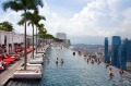 Infinity pool at Marina Bay Sands hotel in Singapore.