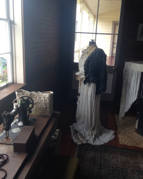 Fanny's unfinished dress at the Robert Louis Stevenson museum.