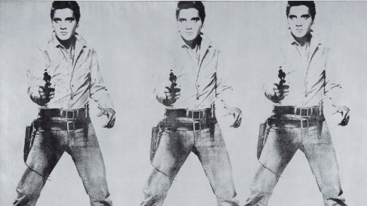 Warhol's 'Triple Elvis', part of the Fisher Collection at the San Francisco Museum of Modern Art.