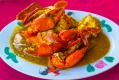Chilli crab is a Singaporean seafood dish popular in Singapore and Malaysia.