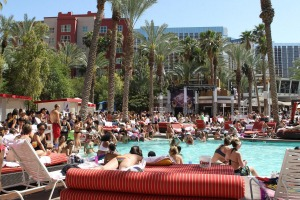 Las Vegas pools aren't necessarily for relaxing by.