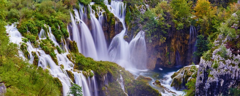 The Plitvice Lakes are laced together by waterfalls in a pocket of wooded hills in central Croatia.