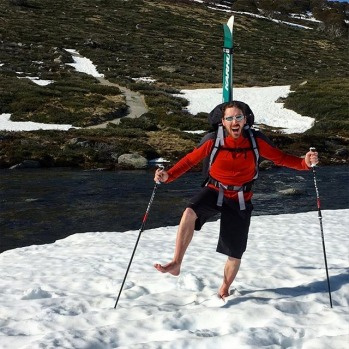 Nothing beats barefoot snow walking after a river crossing #skimaxholidays #misssnowitall