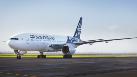 An Air New Zealand 777-200.