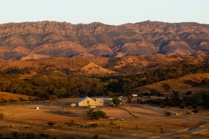 Arkaba Homestead in the Flinders Ranges, South Australia.