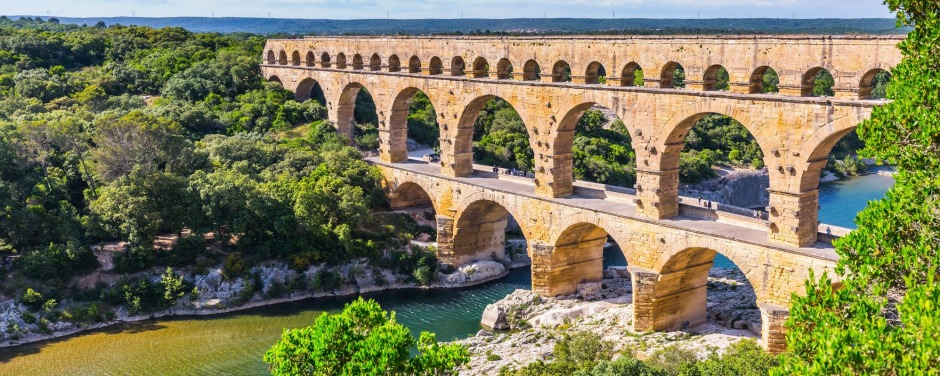 Pont du Gard aqueduct: The genius of Roman engineering in France.