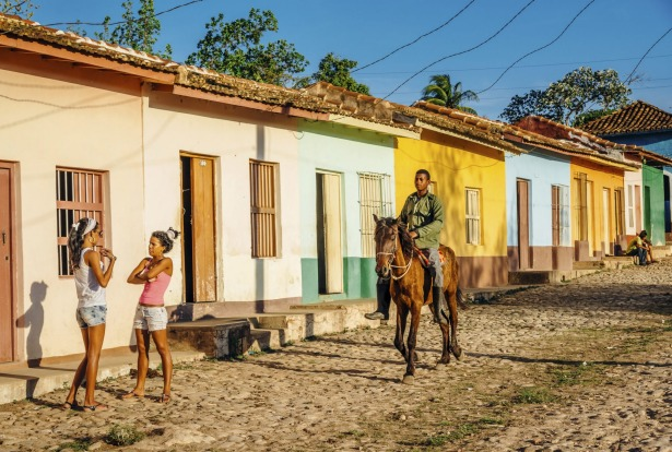 Colourful streets in Trinidad, Cuba.