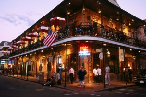 Restaurant in the French Quarter of New Orleans.