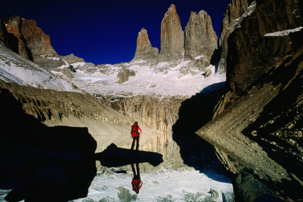 Paine Circuit trekking route, Torres del Paine National Park, Patagonia, Chile.
