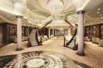 The lobby on Regent's Seven Seas Explorer.