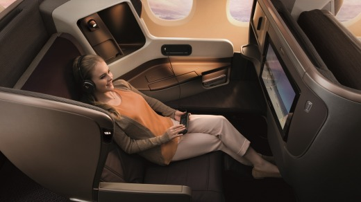 Singapore Airlines A350-900 business class.